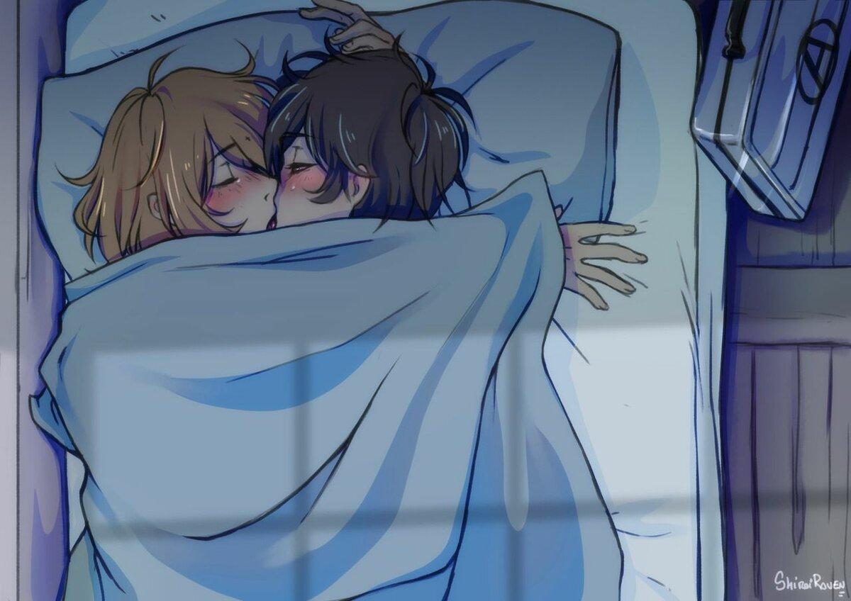 Картинки аниме спящие девушки и парни