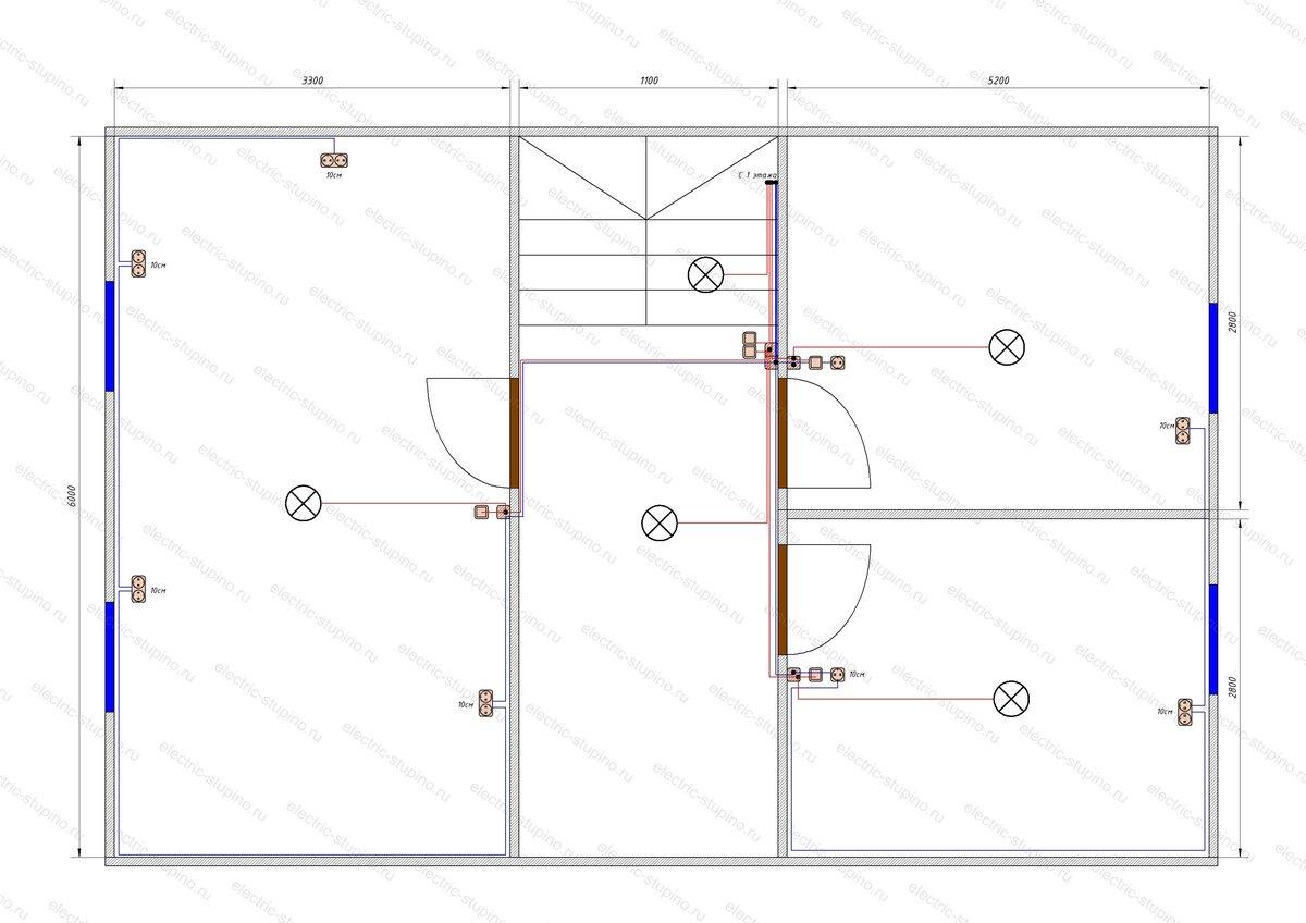 Электропроводка в деревянном доме схема кабельных линий 2 этаж.