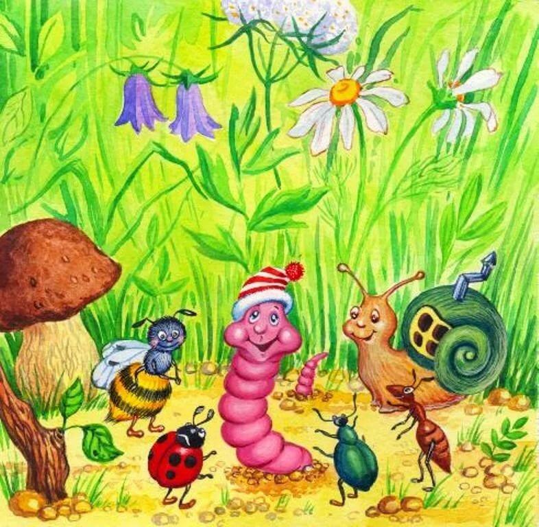 сказка про насекомых с иллюстрациями утверждают