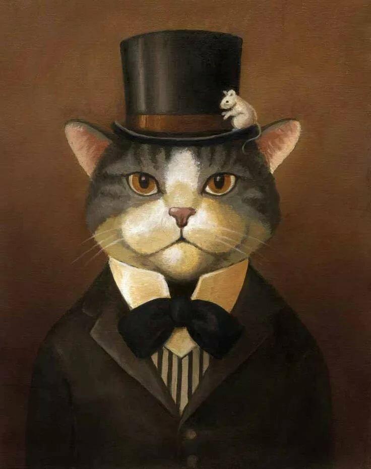 Картинки коты в пиджаке