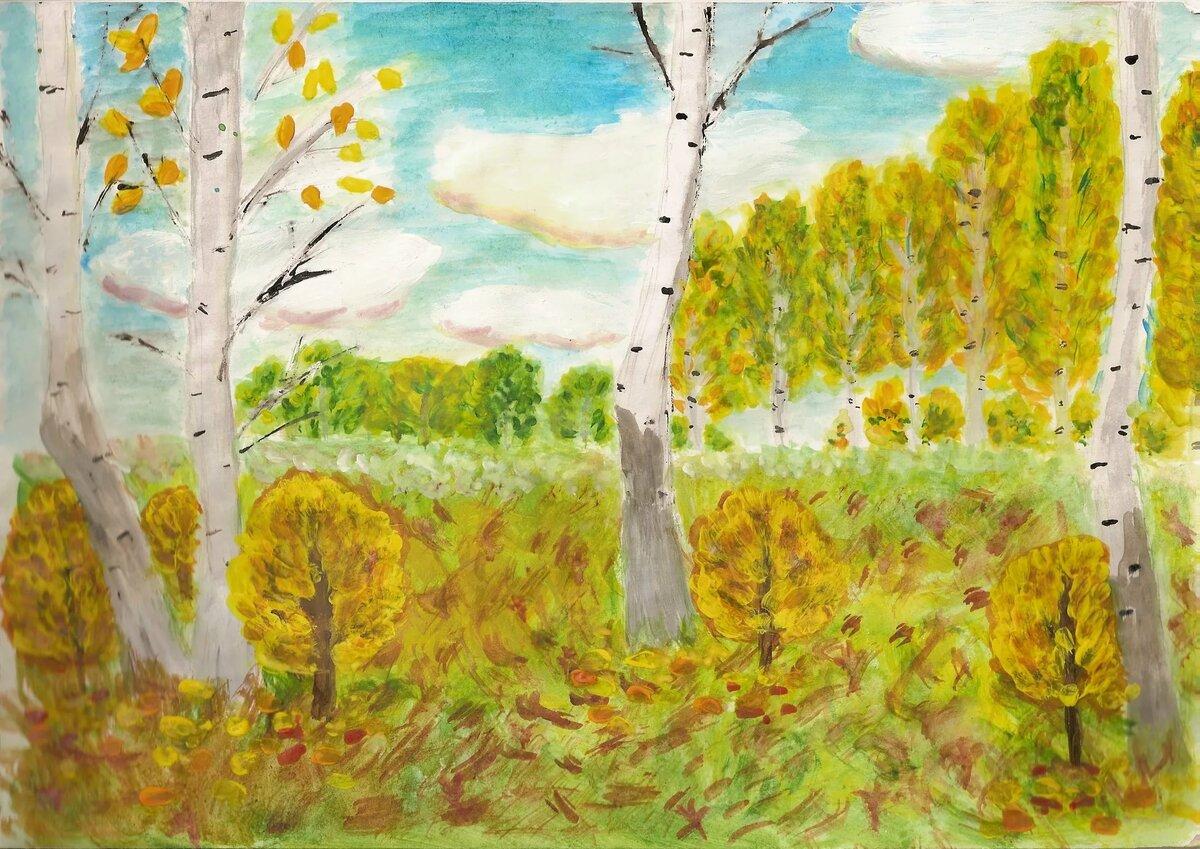 різноманітних золотая осень картинки рисовать карандашами район бакыркёй