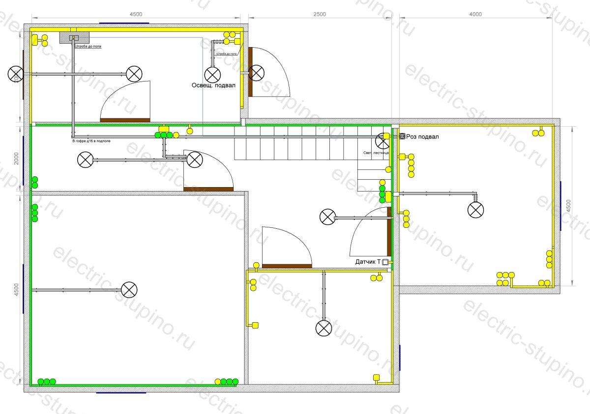 План расположения кабельных трасс для частного дома