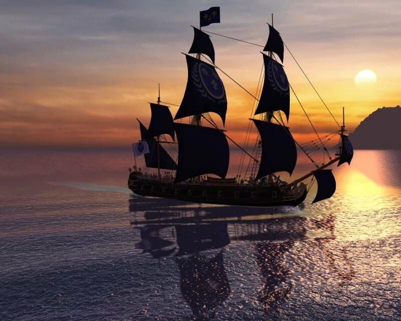 Пиратский фрегат картинка