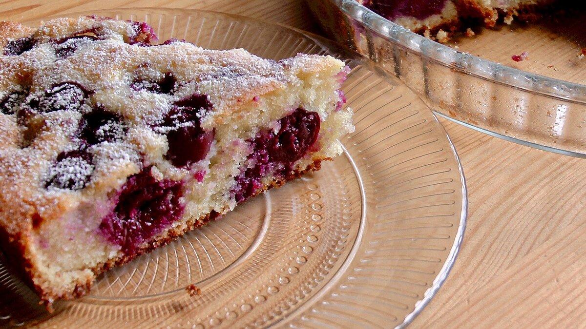 Вишневый пирог рецепт простой с фото