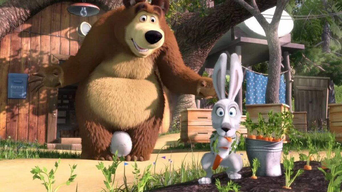 Маша и медведь заяц картинка