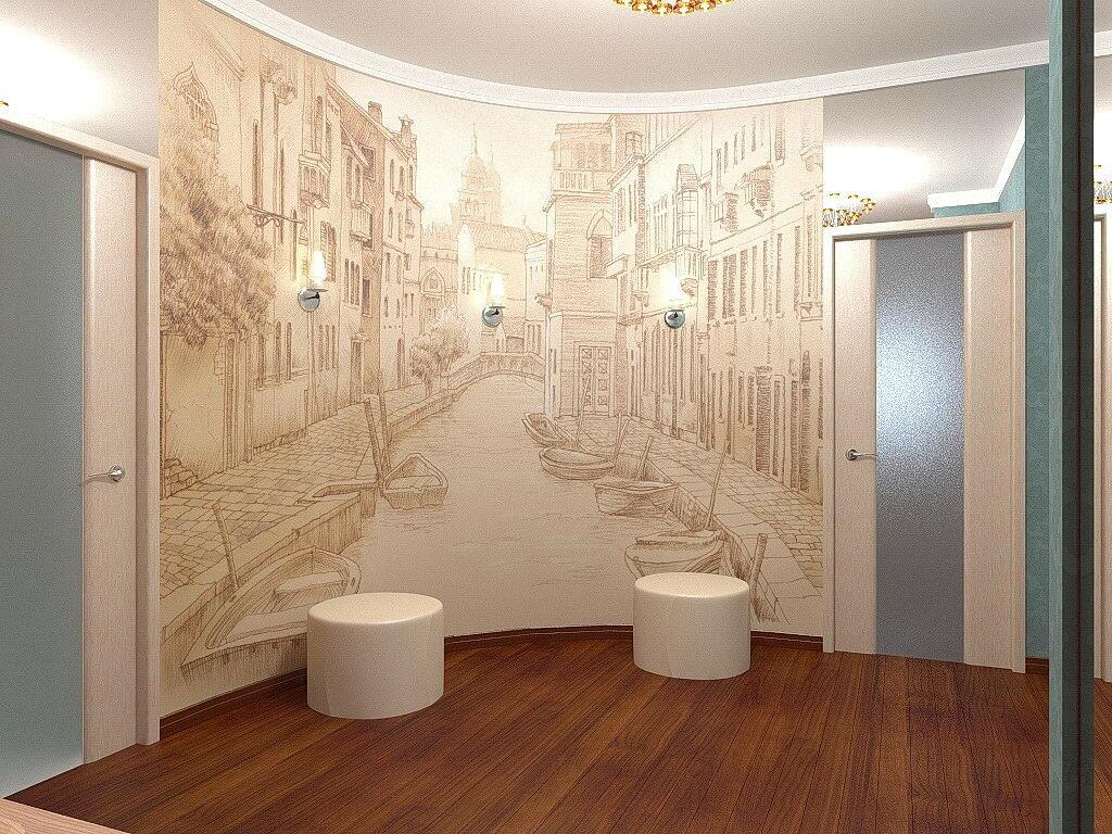 декор фотографиями на стенах коридора этих достоинств, стоит