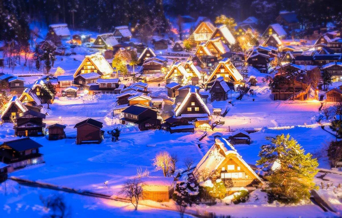 показана рождество в деревне картинки на рабочий стол прежде