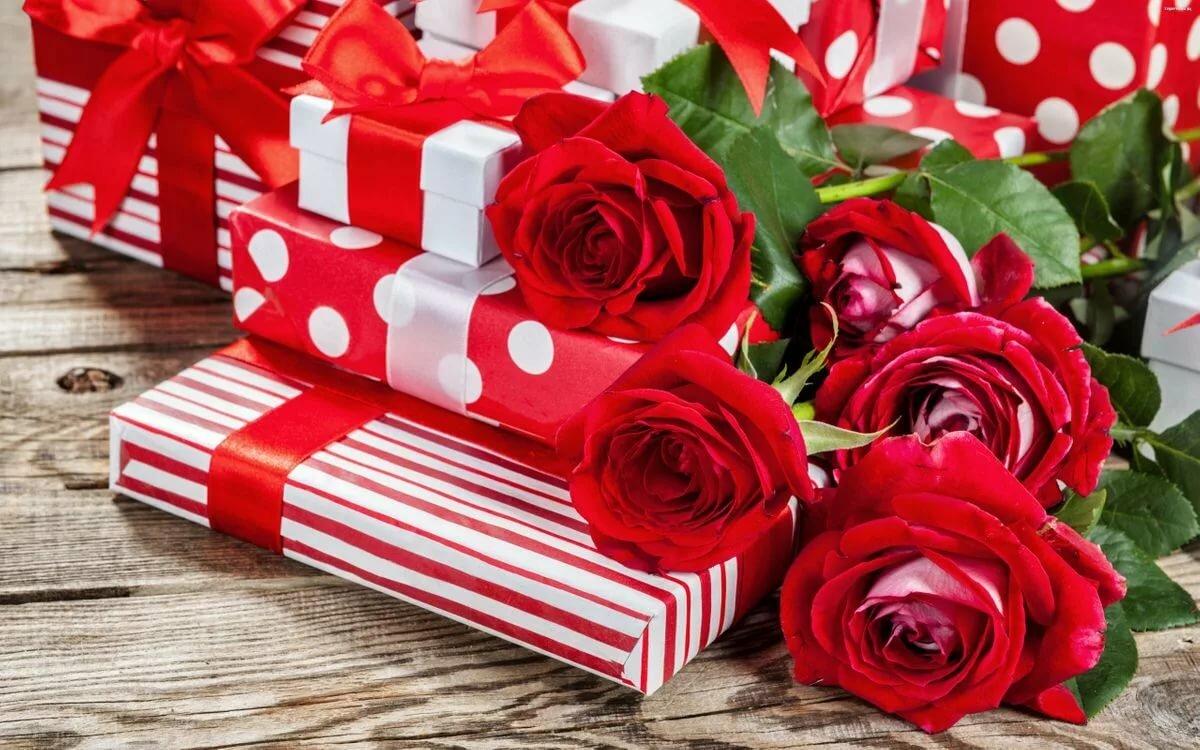Картинки красивых цветов и подарков