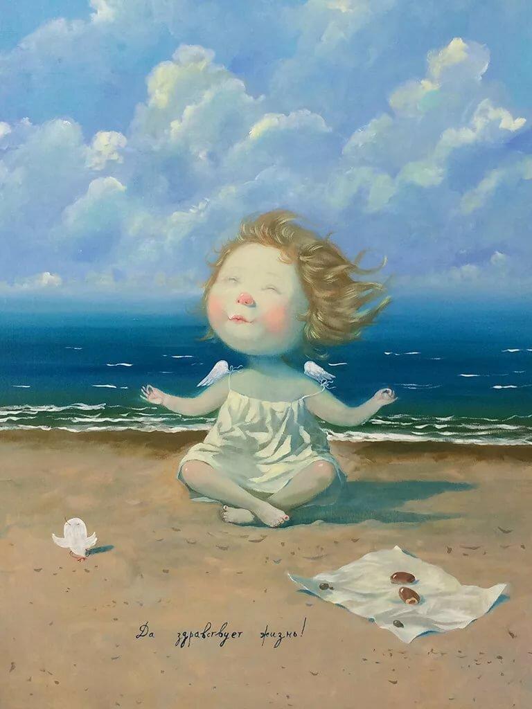 вот ангел на берегу картинка рельсовой