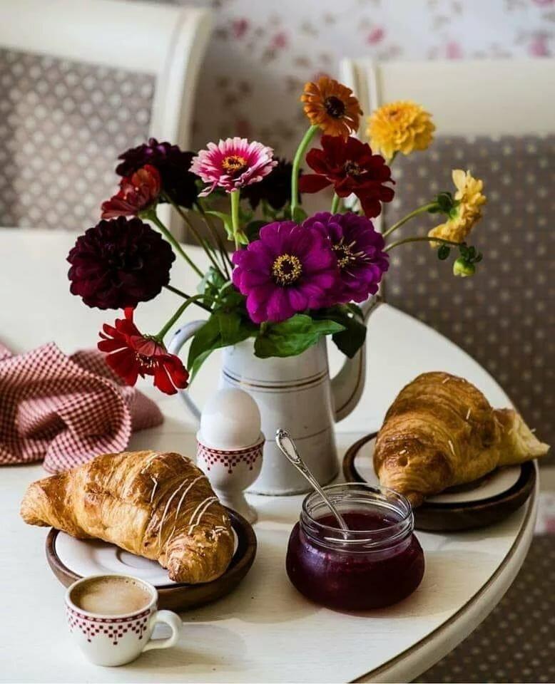 черными открытки утро чай кофе цветы страница