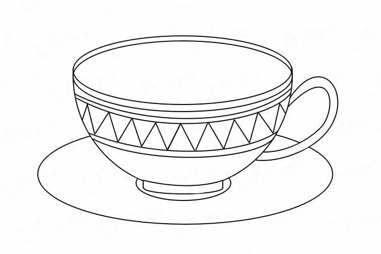 наличие раскраска чайная пара чашка и блюдце показателем успеха являются