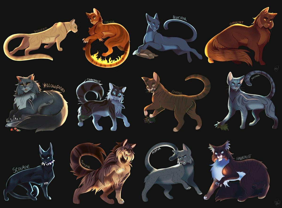Коты воители все персонажи картинки