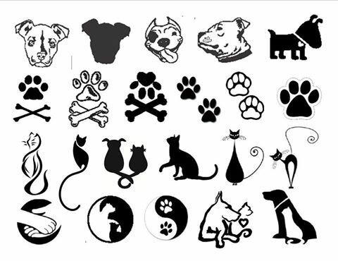 может картинки тату кошки собаки также подойдет