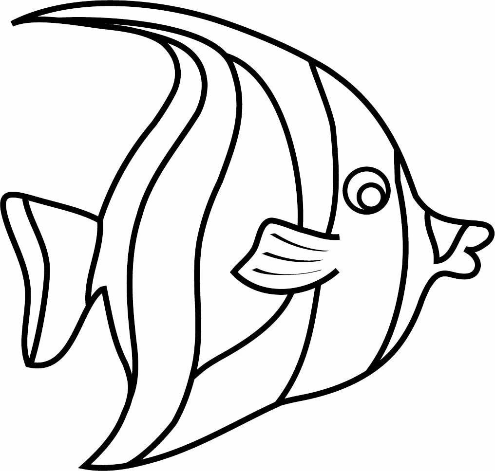 Картинка шаблон рыбы