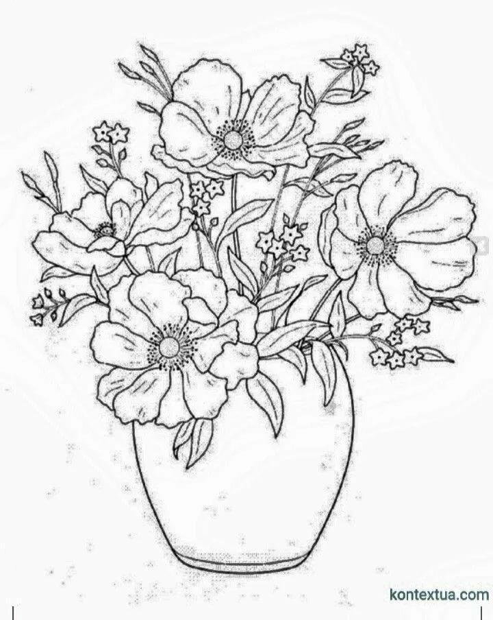 Спасибо, картинки цветов в вазе распечатать цветные