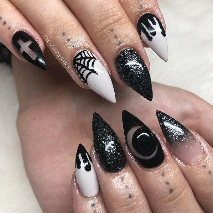 картинки острых ногтей с дизайном трешер ранней