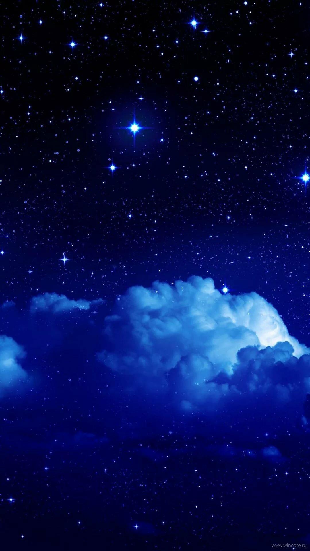 Ночное небо обои на телефон вертикальные