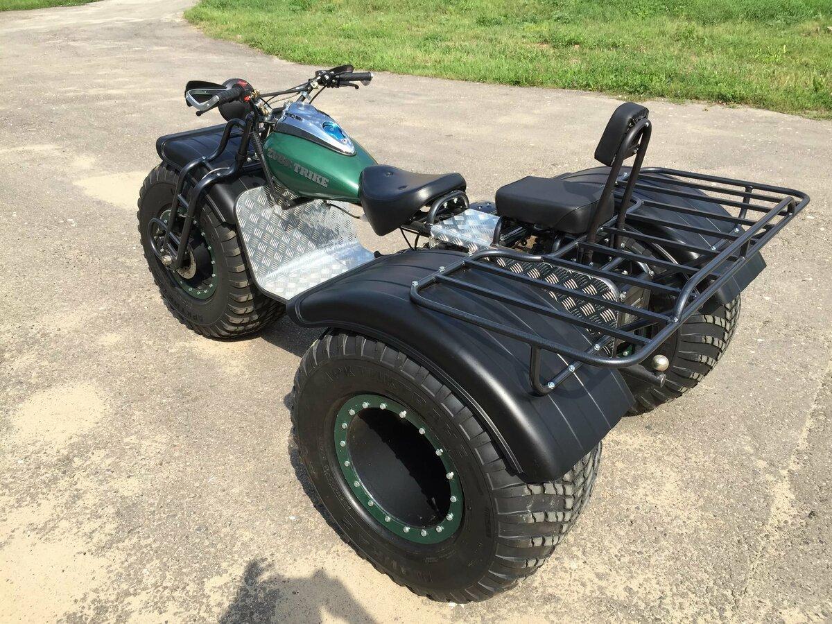 Трехколесный мотоцикл для рыбалки