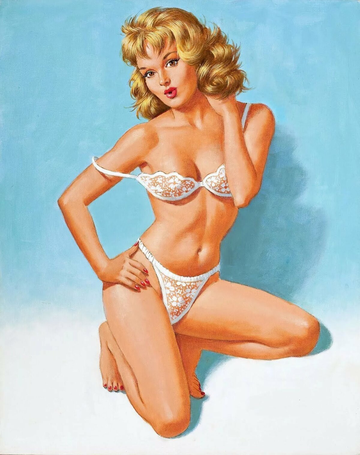 Sexy pin up girls stripping