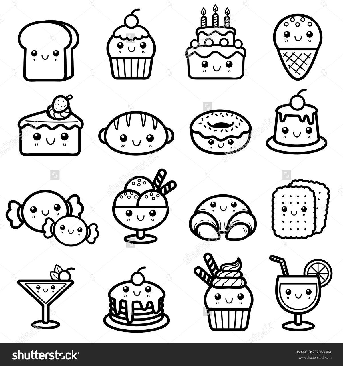 картинки для распечатки мини еда густая