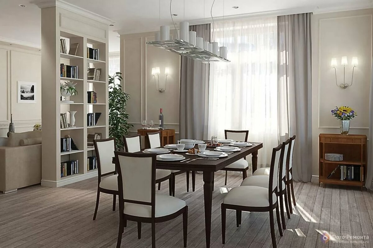 Картинка столовой в доме