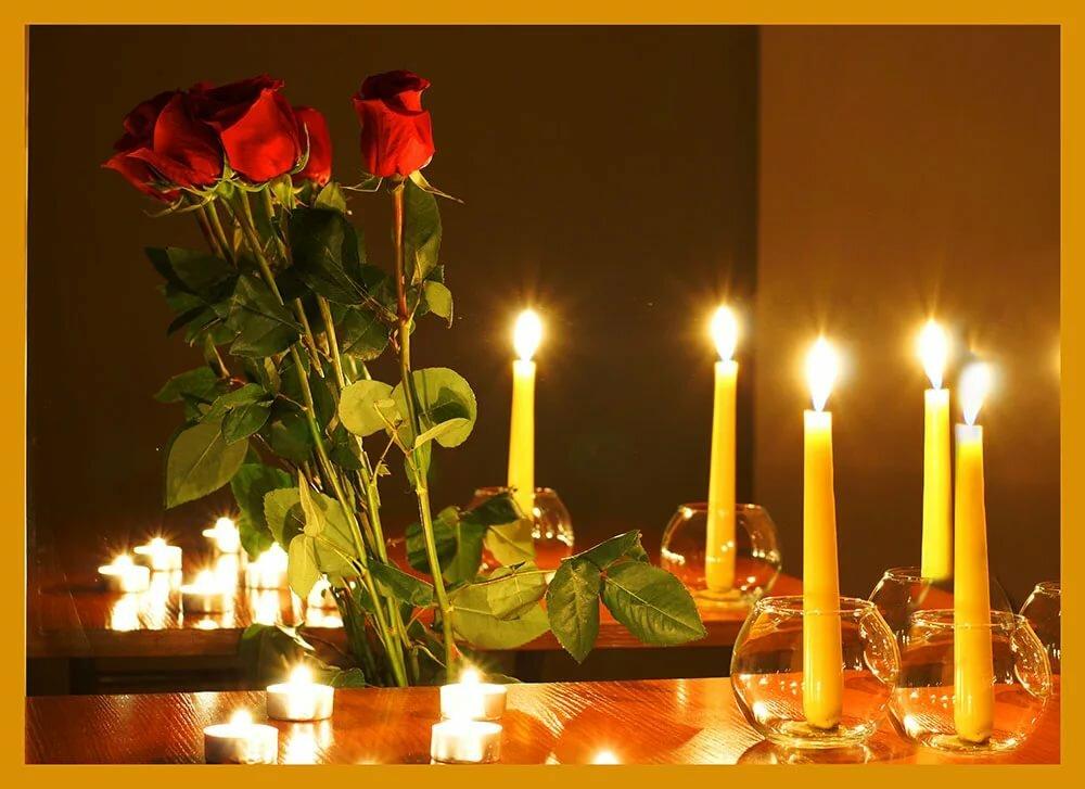 Фото открытки свечи