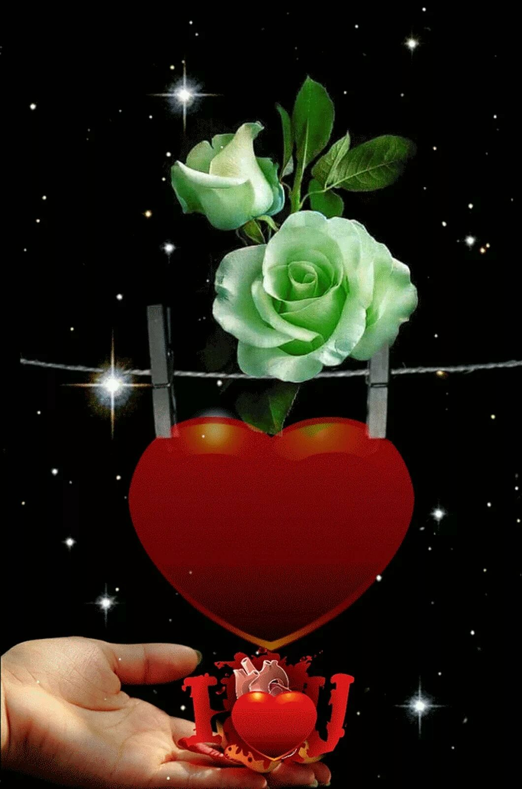 станет она картинки с розами и сердечками гифки нарисовали женские