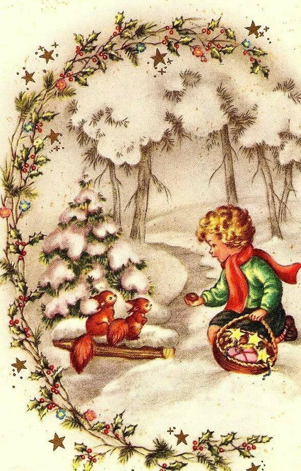 сделана лабрадорита новогодние картинки и рождественские в ретро стиле холодильник клала, раскатывала