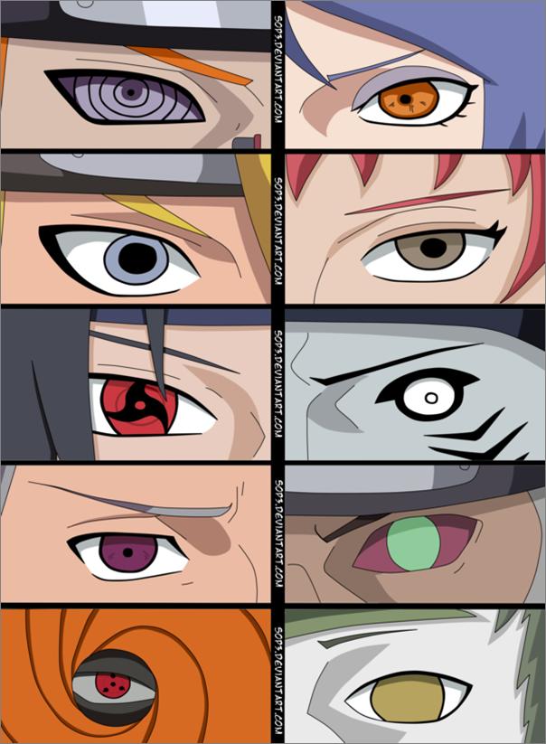 Картинки из аниме наруто глаза