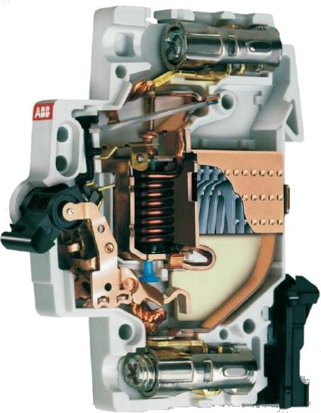 Конструкция автоматического выключателя ABB S 200