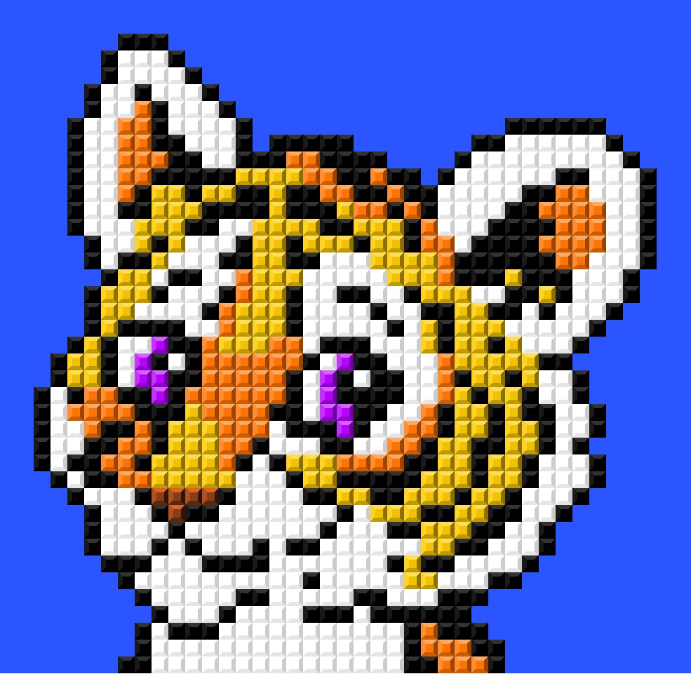Картинки по клеточкам тигры