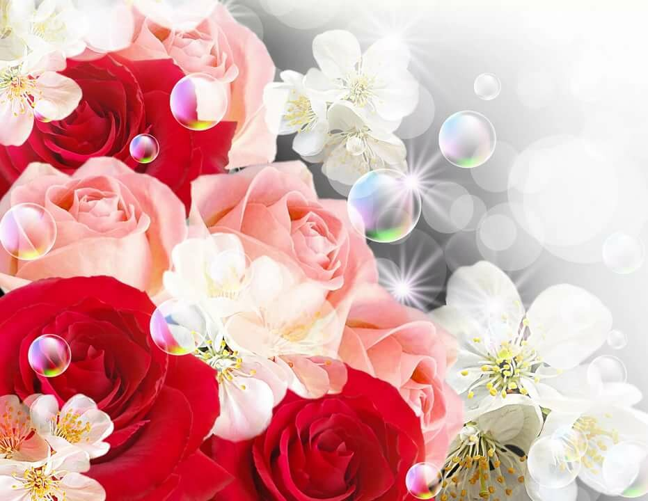 Фон с цветами для открыток
