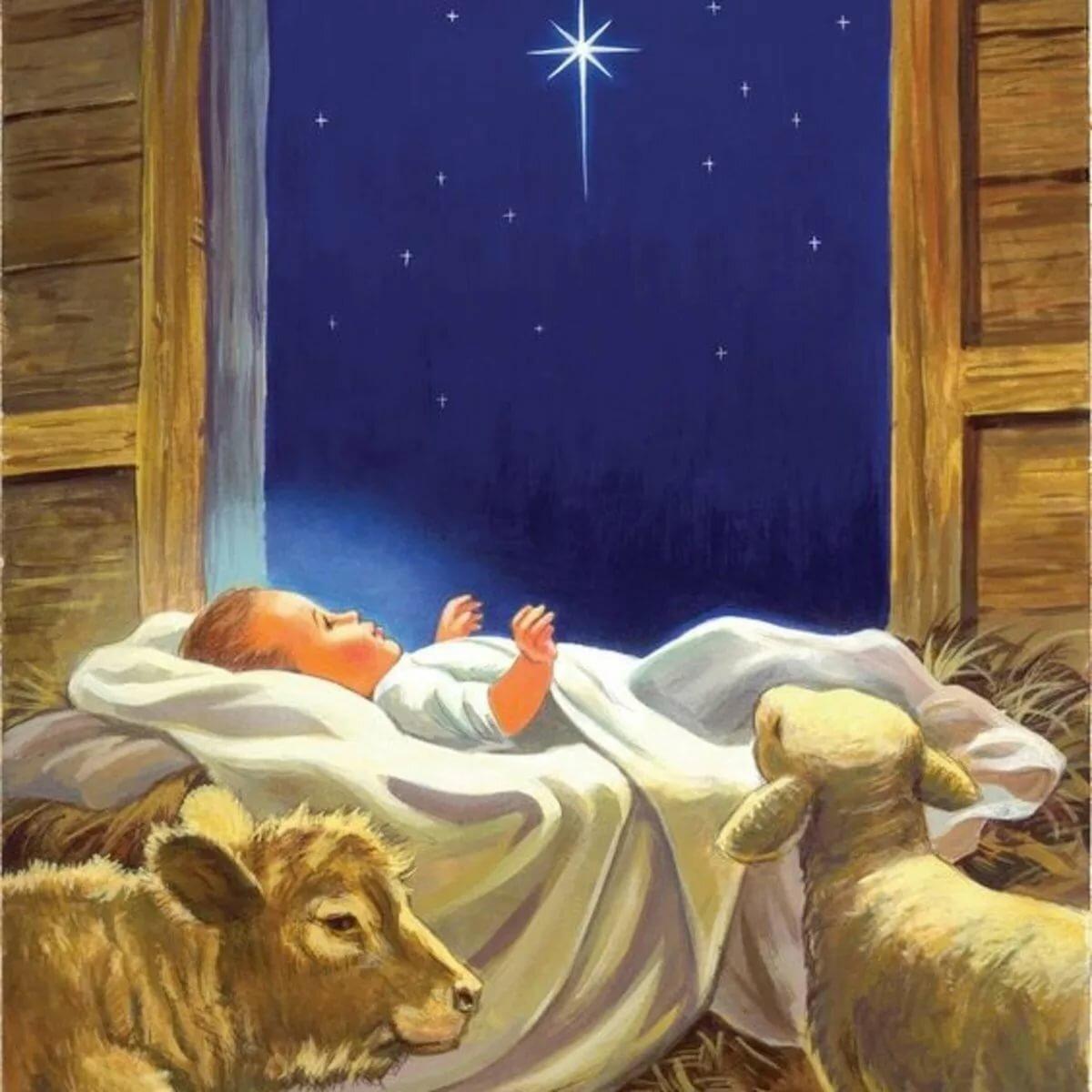 найти детям о рождестве с картинками сейчас