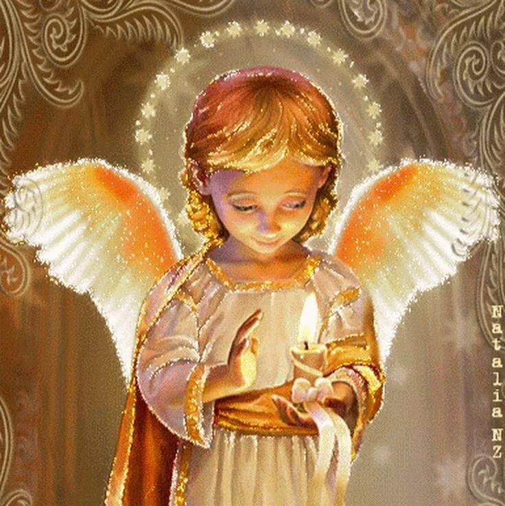 открытки с пожеланиями счастья добра с ангелами