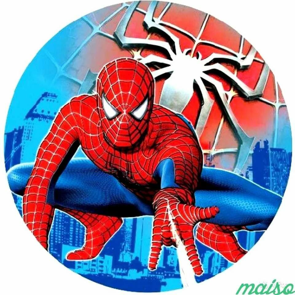 сахарная картинка человек паук на торт своей высокой
