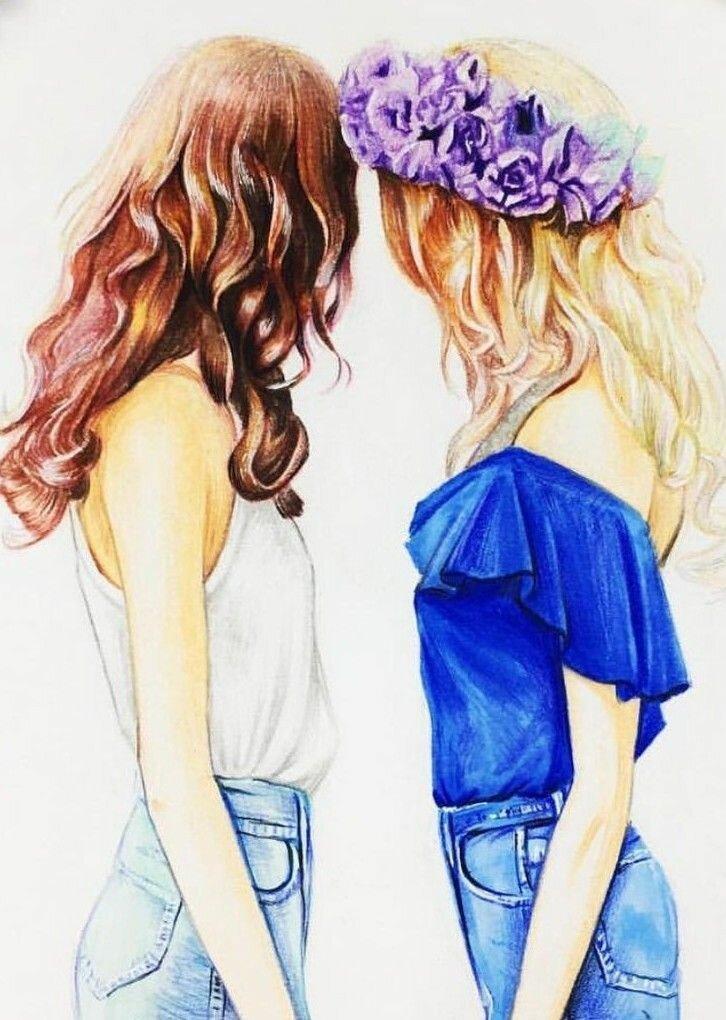 Картинки срисовки дружбы