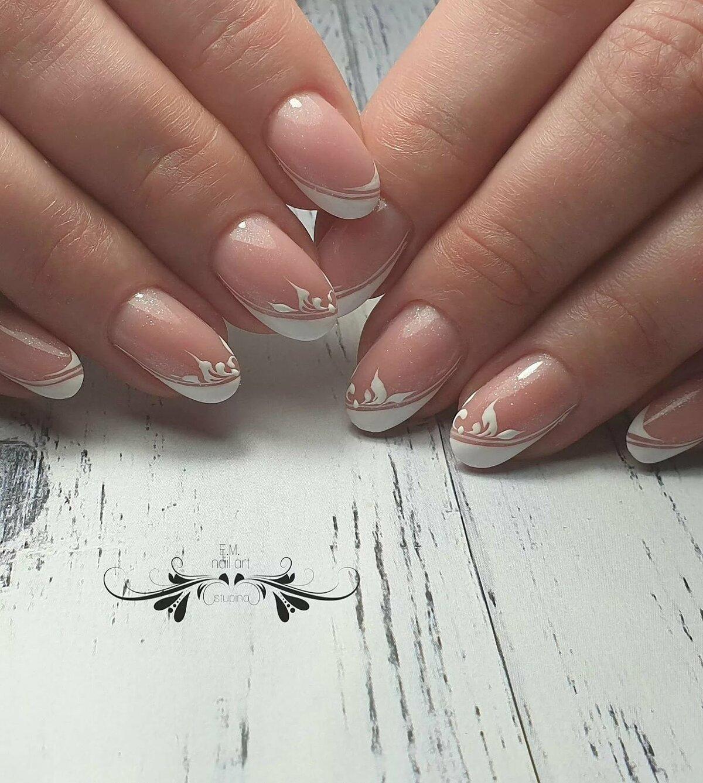 Дизайн ногтей с белым френчем картинки европейских