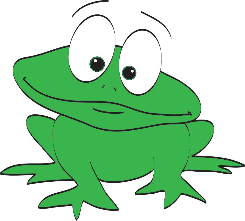 Дитяча картинка жабка