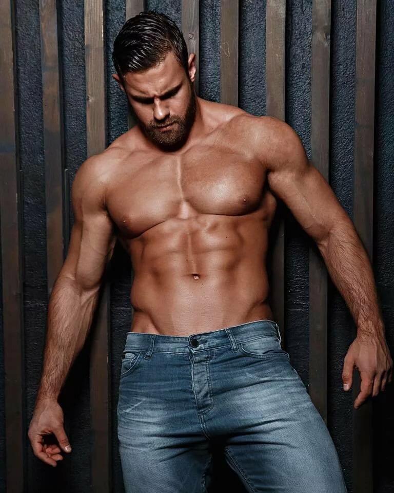 Muscular greek naked men