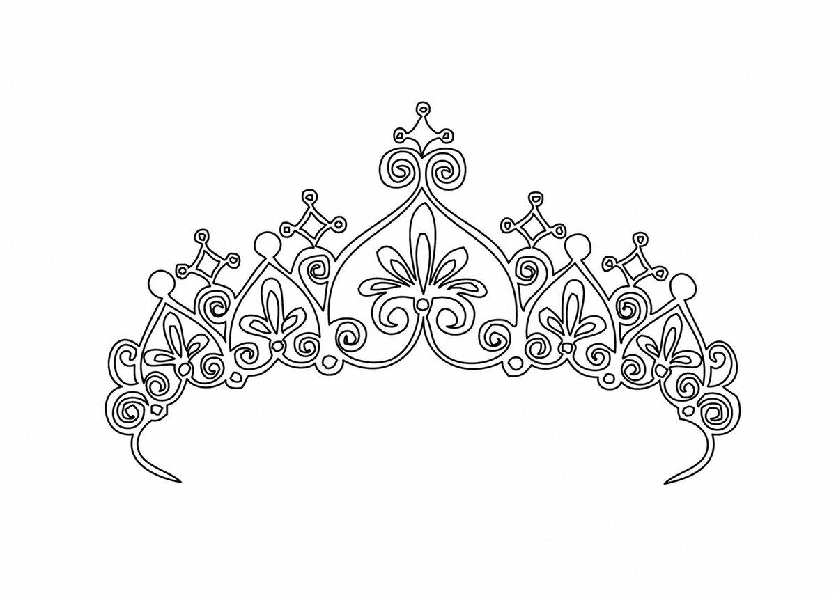 Картинки корон распечатать