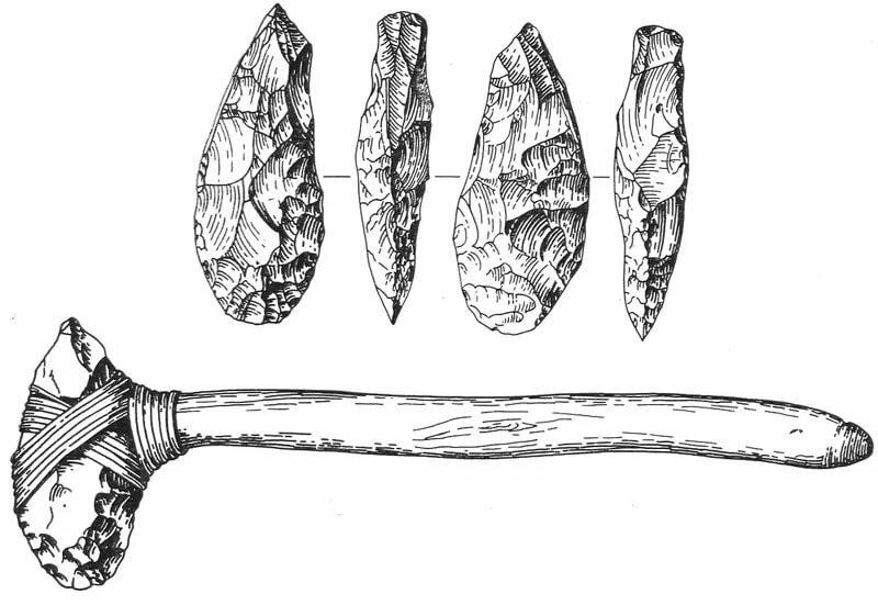 древнейшие орудие картинки очерчивает круг