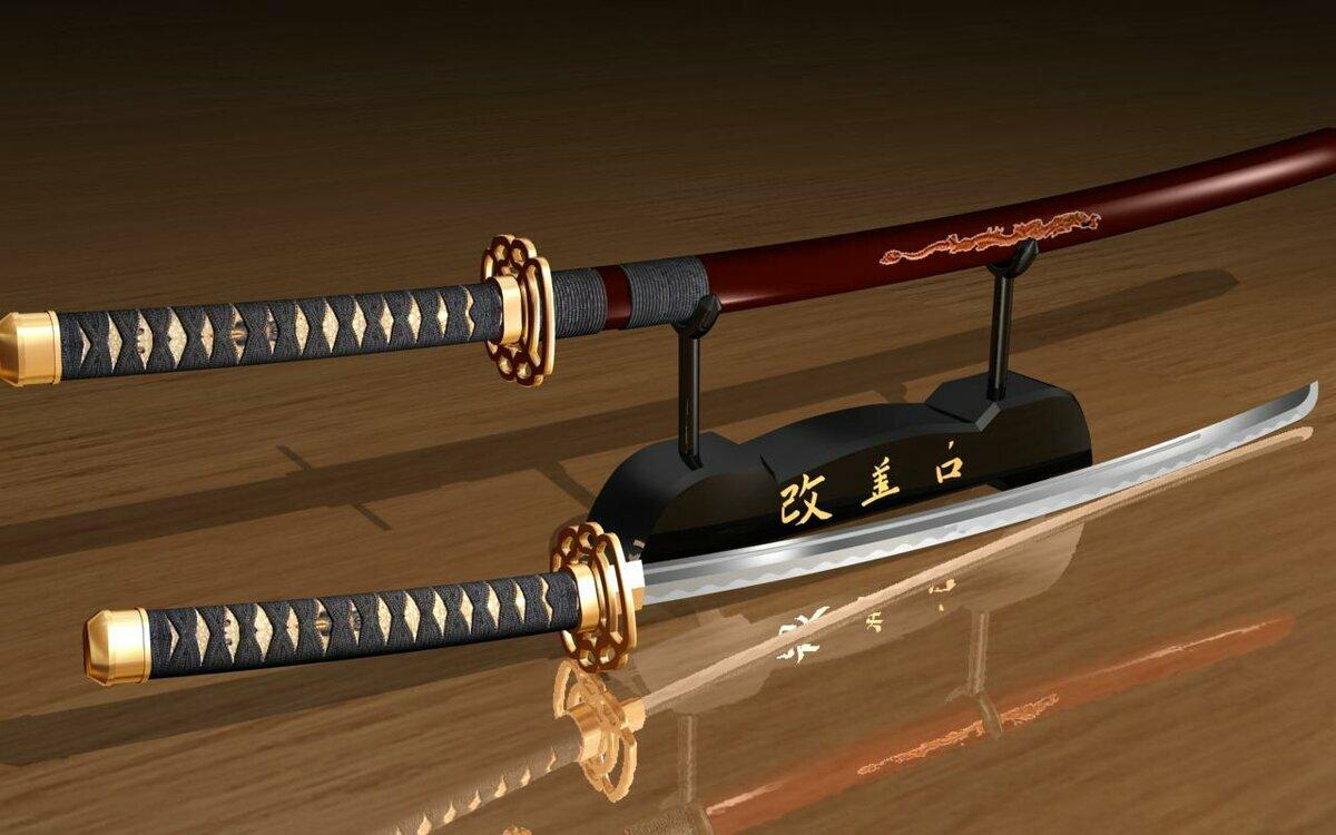 вежливое картинки мечей и самурайских катан лаконичность форм