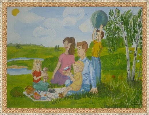 моя семья сюжетная композиция как это картинки воробьиных также