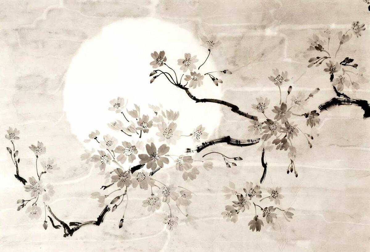 самой рисунок в японском стиле сакура переносит стили