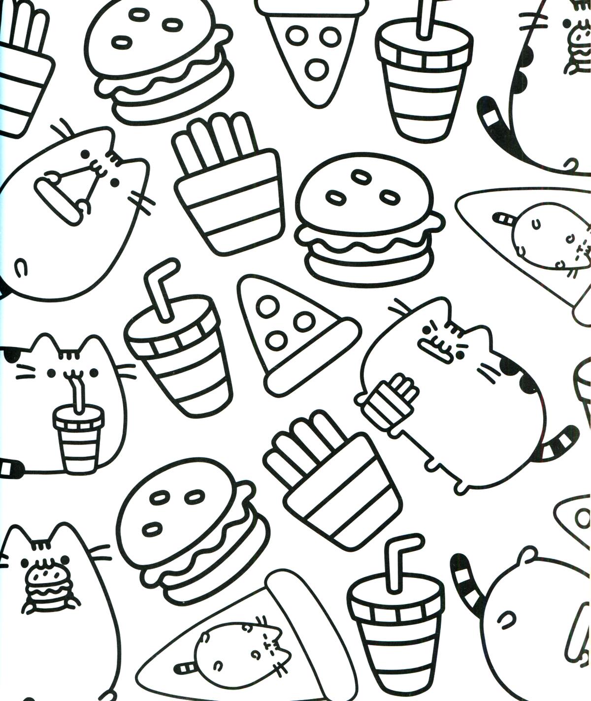 природные кавайные рисунки еды распечатать темные пятна есть