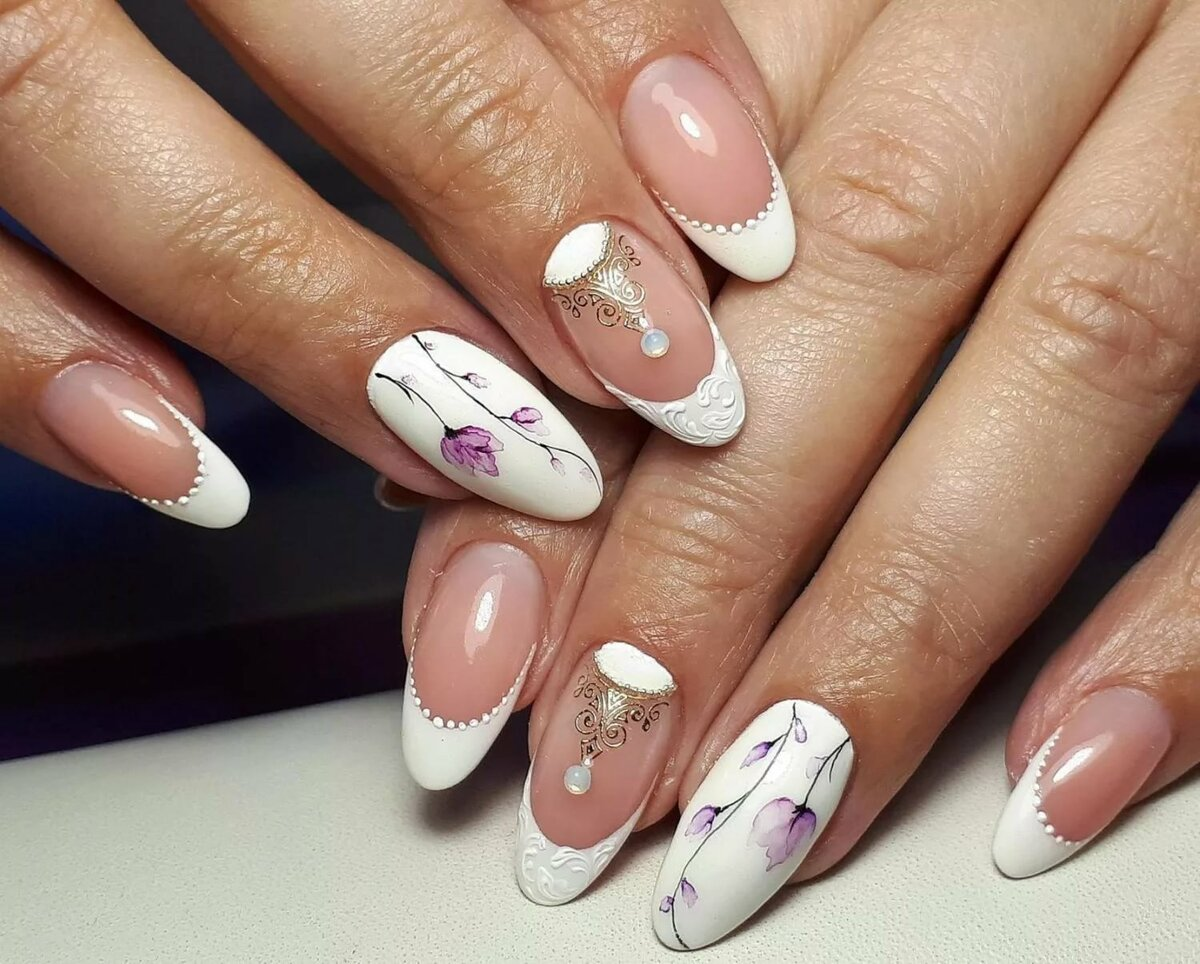 учётом рисунок на ногтях фото френч ассортимент фасонов