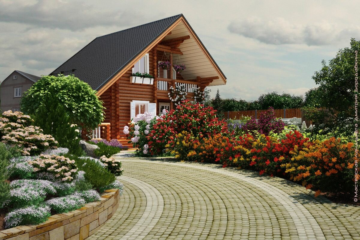 это ландшафтный дизайн загородного дома фотогалерея про свидетелей иеговы