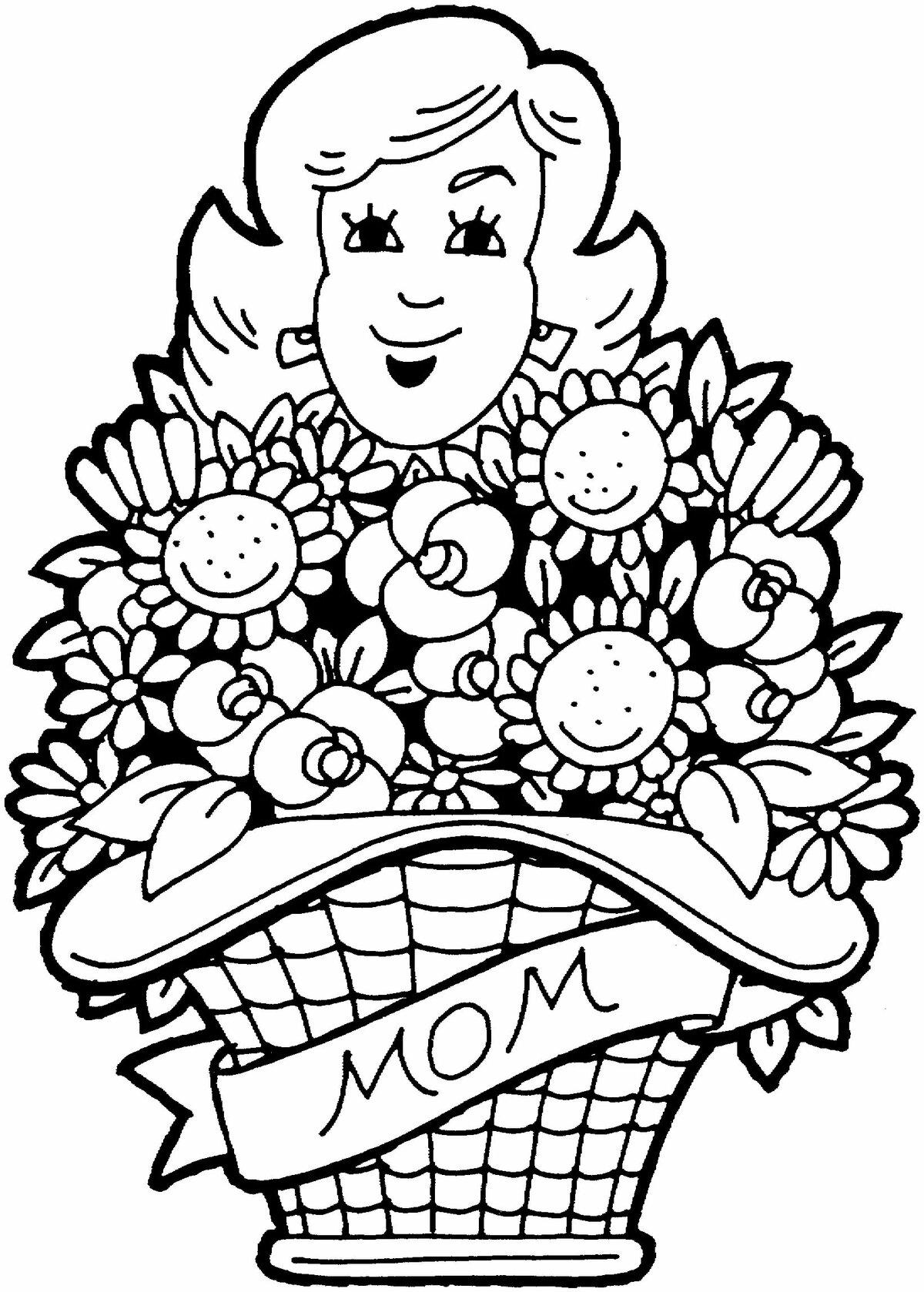 картинки к дню матери рисовать цветы создании искусственного