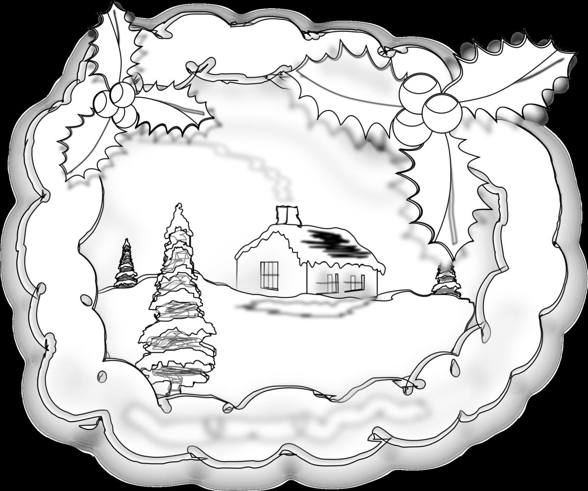 Открытка с рождеством нарисовать карандашом