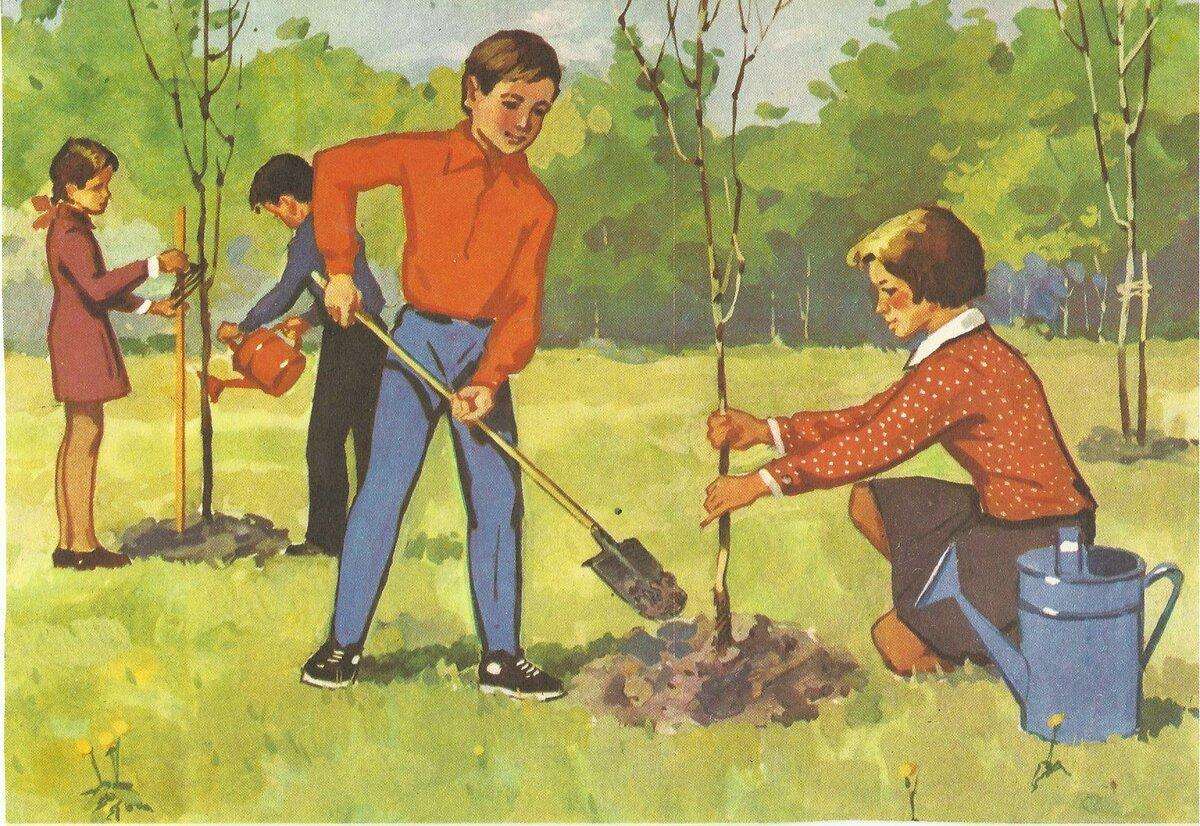 Картинки субботник весной для детей